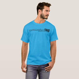 Helicopter Taxi Men's Basic Teal T-Shirt