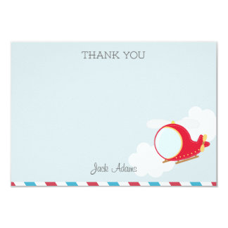 Helicopter Thank You Card