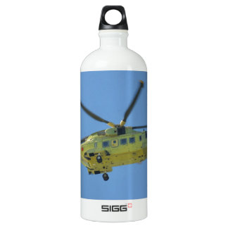 Helicopter to The Isles of Scilly Aluminum Water Bottle