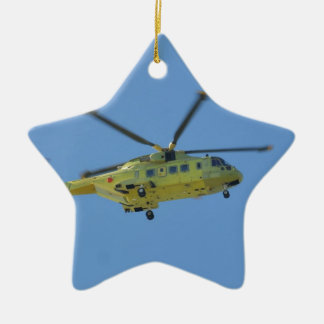 Helicopter to The Isles of Scilly Ceramic Ornament