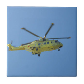 Helicopter to The Isles of Scilly Ceramic Tile