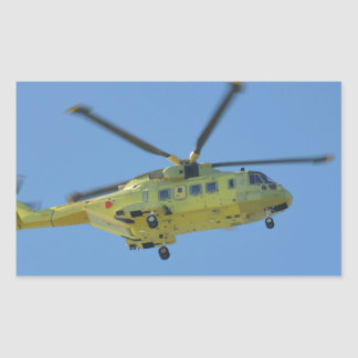 Helicopter to The Isles of Scilly Rectangular Sticker