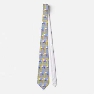 Helicopter Whimsical Cartoon Art Tie
