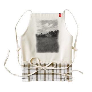 Helicopter Zazzle HEART Apron
