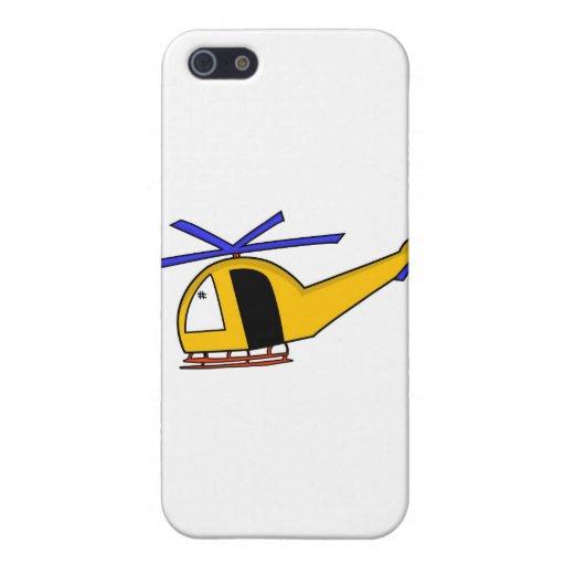 Helicóptero amarillo iPhone 5 funda
