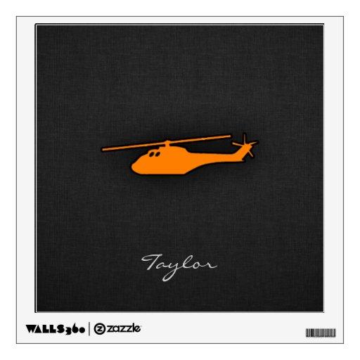 Helicóptero anaranjado