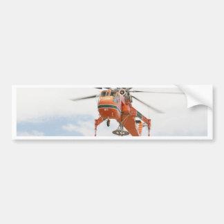 Helicóptero Etiqueta De Parachoque