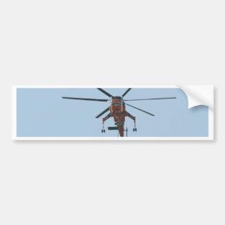 helicóptero pegatina de parachoque