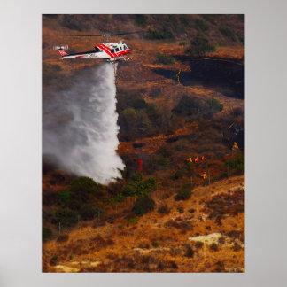 Helicóptero contraincendios poster