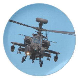 Helicóptero de Apache Plato Para Fiesta
