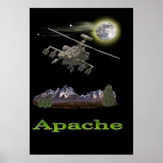 Helicóptero de Apache Póster