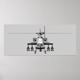 Helicóptero de Apache - poster Póster