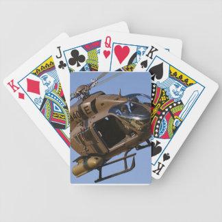 Helicóptero de ataque baraja cartas de poker