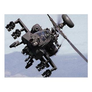 Helicóptero de ataque de Aapache Tarjeta Postal