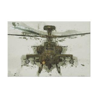 Helicóptero de ataque de Apache Impresión En Lienzo