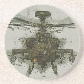 Helicóptero de ataque de Apache Posavasos Cerveza
