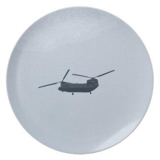 Helicóptero de Chinook Platos Para Fiestas