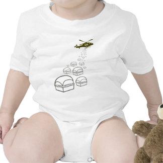 Helicóptero de Krystal Trajes De Bebé