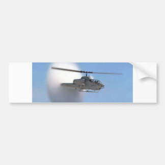 helicóptero de la cobra etiqueta de parachoque