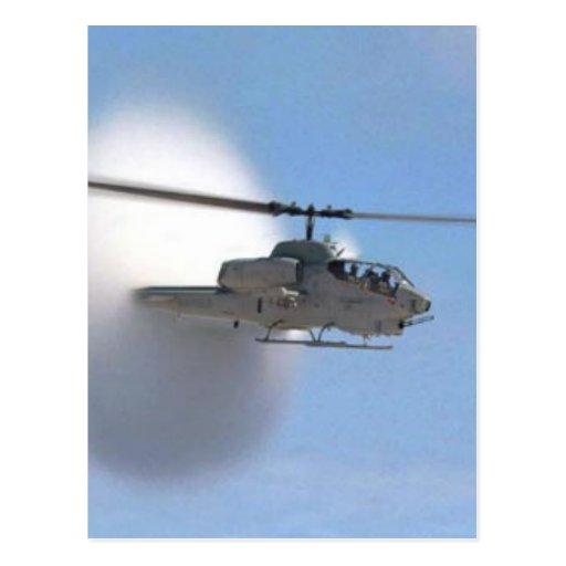 helicóptero de la cobra tarjeta postal