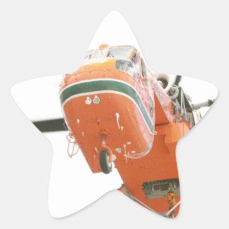 Helicóptero de la grúa pegatina en forma de estrella