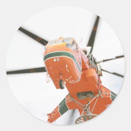 Helicóptero de la grúa pegatinas
