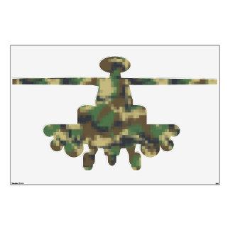 Helicóptero de los militares del camuflaje del vinilo decorativo