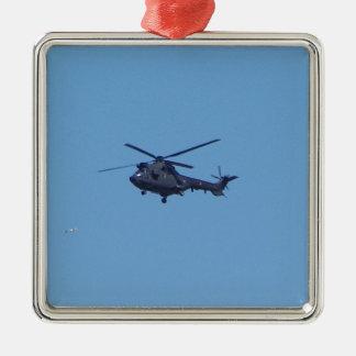 Helicóptero de los militares del puma de Westland Adorno Navideño Cuadrado De Metal