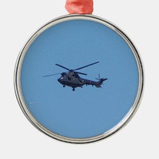 Helicóptero de los militares del puma de Westland Adorno Navideño Redondo De Metal