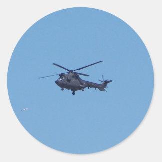 Helicóptero de los militares del puma de Westland Pegatina Redonda