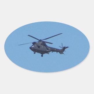 Helicóptero de los militares del puma de Westland Pegatina Ovalada