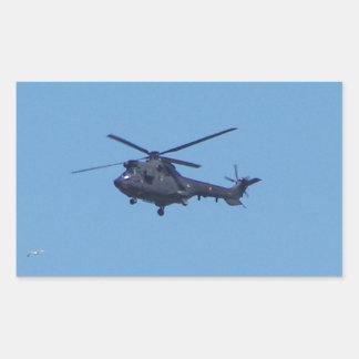Helicóptero de los militares del puma de Westland Pegatina Rectangular