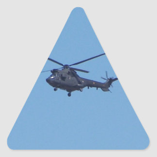 Helicóptero de los militares del puma de Westland Pegatina Triangular