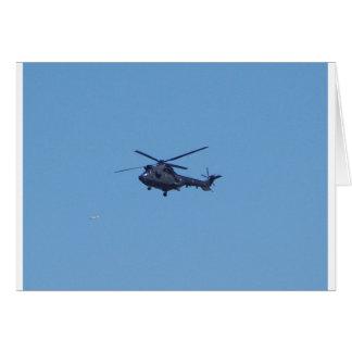 Helicóptero de los militares del puma de Westland Tarjeta De Felicitación