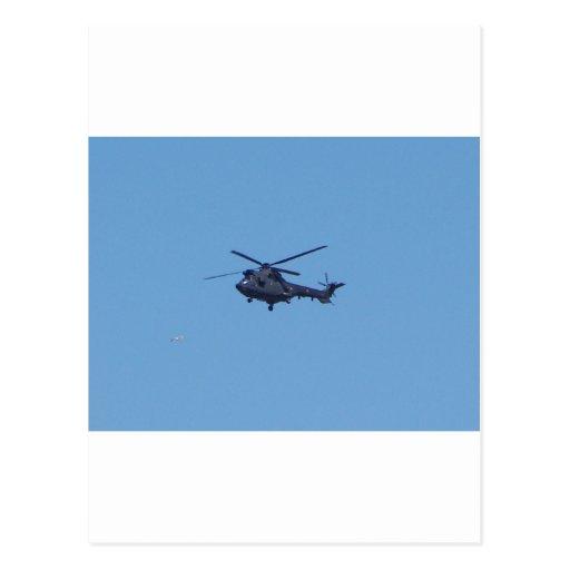 Helicóptero de los militares del puma de Westland Tarjeta Postal
