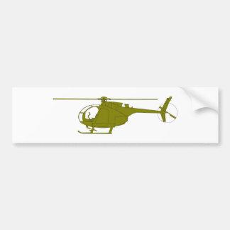 Helicóptero de observación de OH-6A Pegatina De Parachoque