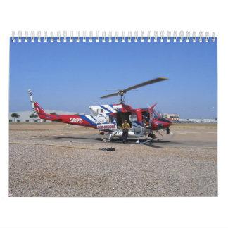 Helicóptero de SDFD Calendarios