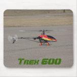 Helicóptero de Trex 600 RC que asoma Alfombrilla De Raton
