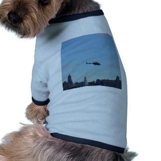 Helicóptero de visita turístico de excursión de camiseta con mangas para perro