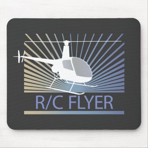 Helicóptero del aviador de R-C Tapetes De Raton
