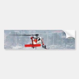 Helicóptero del guardacostas etiqueta de parachoque
