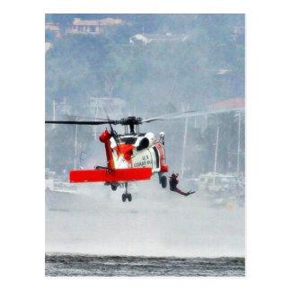 Helicóptero del guardacostas postales