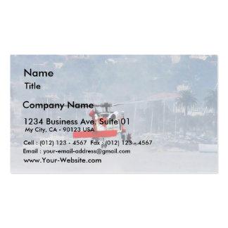 Helicóptero del guardacostas tarjetas de visita