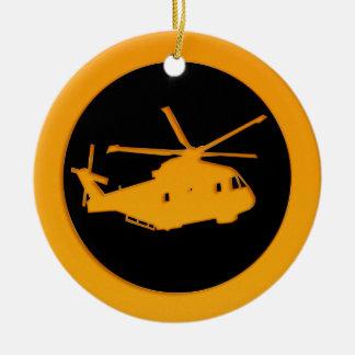 Helicóptero del oro ornamento de navidad