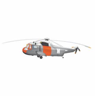 helicóptero del rescate fotoescultura vertical
