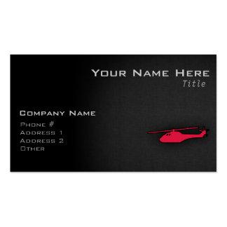 Helicóptero del rojo carmesí tarjetas de visita
