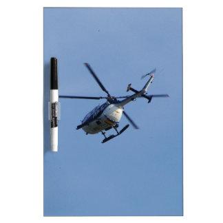 Helicóptero español de Messerschmitt de la policía Pizarra