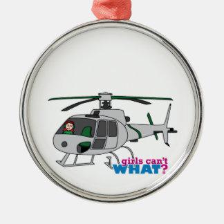 Helicóptero experimental de la plata del vuelo de  adorno para reyes