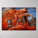 Helicóptero - helicóptero del guardacostas poster