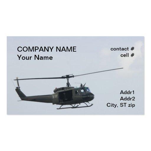 Helicóptero legendario del huey tarjetas de visita